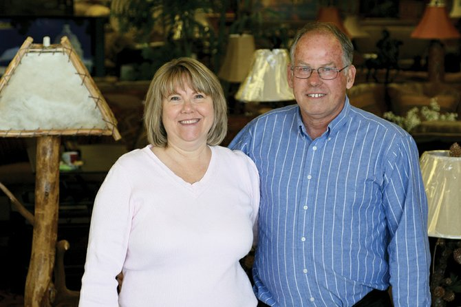 Patricia and Steve Bell, owners of Furniture Gallery of Craig, 385 Ranney St., stand in the showroom of their store, which offers a variety of home furnishings. The store has been at its current location for four years. Local residents named Furniture Gallery best furniture store in the Craig Daily Press' 2011 Best of Moffat County contest.