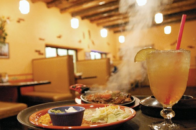 Steam rises from an order of steak fajitas at Vallarta's Mexican Restaurant, located inside the Centennial Mall, 1111 W. Victory Way. Vallarta's was picked for best in Moffat County in two categories — best margarita and best Mexican food. The restaurant offers seven different styles of margaritas with eight tequila options. Margaritas range in price from $5.75 of $7.75.