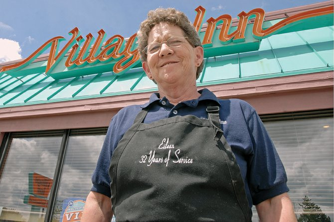 Eileen Kunkle takes a break during her shift at Village Inn, 1103 W. Victory Way. Kunkle was voted best waitress in the Craig Daily Press' 2011 Best of Moffat County contest. Having worked at the restaurant since 1979, Kunkle has waited on hundreds of Craig residents, as well as out-of-town visitors.