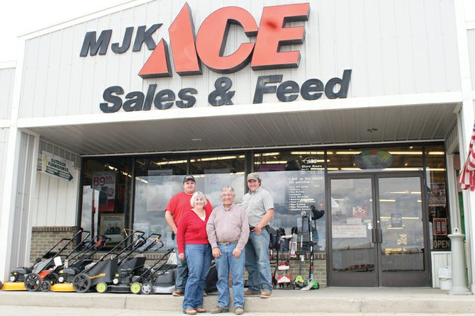 The Kawcak family, from left, Blaine, Lorraine, Lonnie and Blake, own and operate MJK Sales and Hardware, which was voted as best customer service, best hardware store and best paint store in the 2011 Best of Moffat County contest. Lonnie said the business always emphasizes customer services.