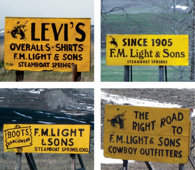 F.M. Light & Sons pays an annual fee for each of its 100 signs and repaints them every year.