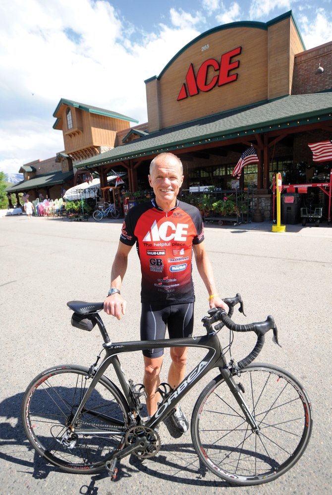 Scott Schlapkohl, longtime manager of Ace at the Curve, has been biking in Steamboat Springs for 27 years.