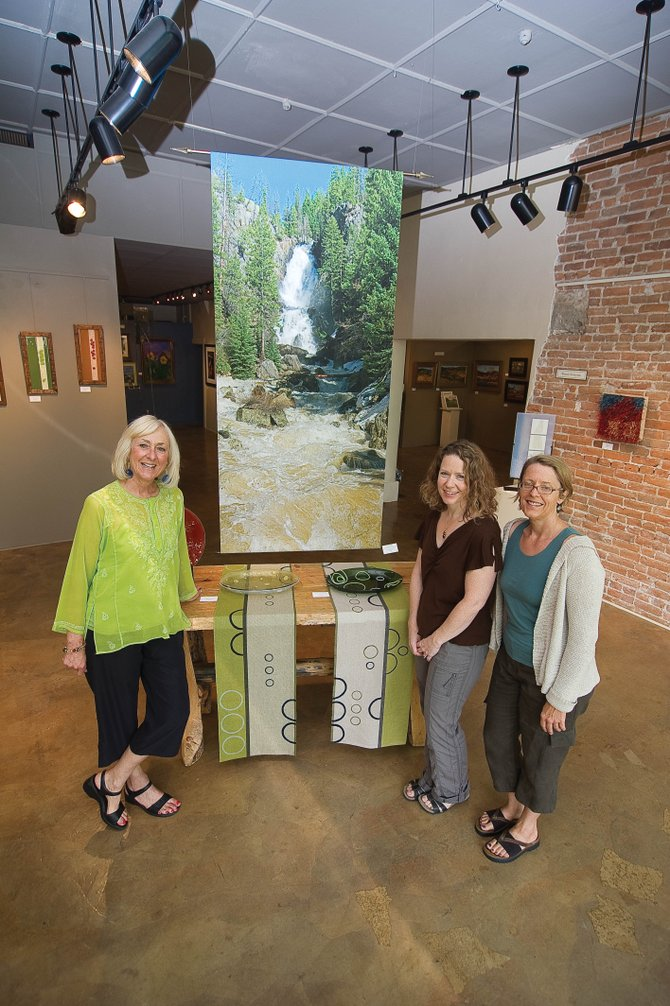 Local artists, from left, Judy Jones, Denise Bohart Brown and Wendy Kowynia will be featured this month at the Artists' Gallery of Steamboat. The show, Fused Elements, is from 5 to 8 p.m. today at the downtown gallery.