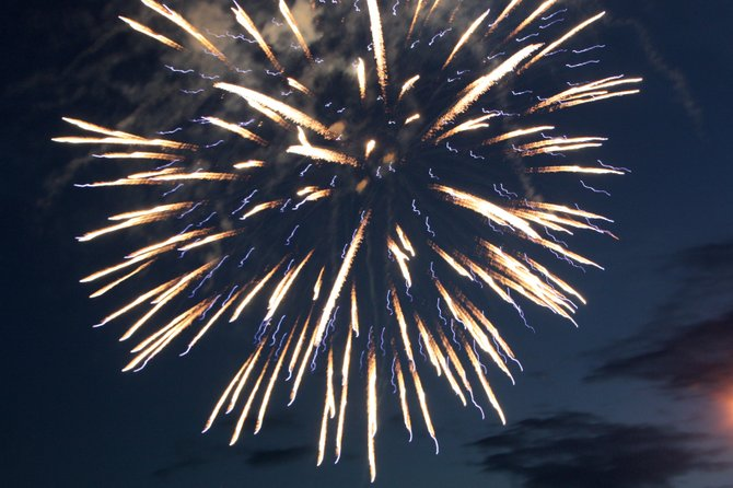 Craig Fire/Rescue casts a Fourth of July fireworks display in 2011 at Moffat County High School.