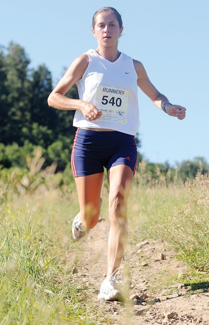 Sarah Pizzo works her way down a section of the Howelsen Hill 8-Miler course at last year's event. This year's race is Saturday.
