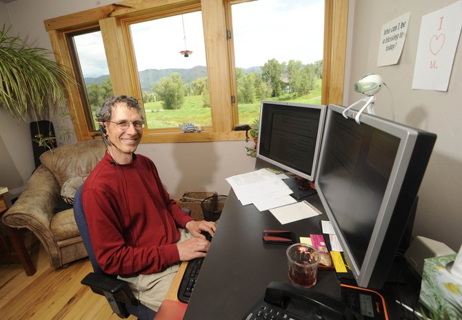 Routt County resident Dale Morris' job as a computer architect for Hewlett-Packard doesn't require him to be near the company's corporate headquarters in Palo Alto, Calif.