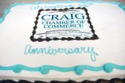 A cake commemorates the Craig Chamber of Commerce's 65th anniversary. A celebration was held during an after-hours mixer Thursday at the chamber's office, 360 E. Victory Way.