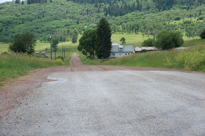 County commissioners met Tuesday to discuss weather to pave a section of Routt County Road 18 in Pleasant Valley.