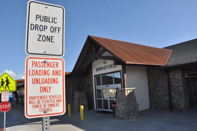 A sign outside Yampa Valley Regional Airport marks a no parking area. The Hayden Town Council will consider raising parking fines next month.
