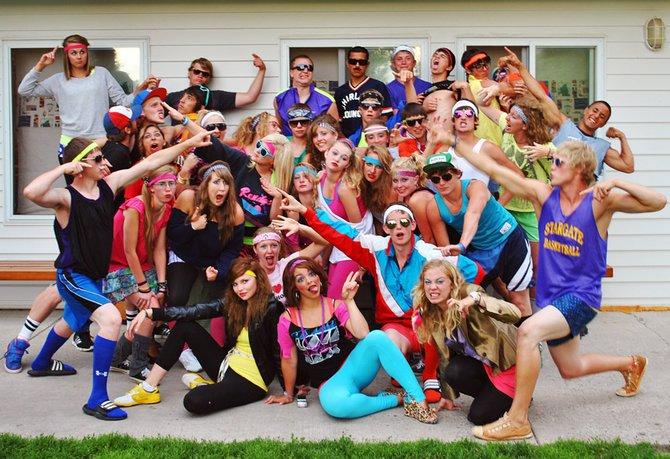 Bear River Young Life participants pose during '80s night at Castaway Club, a camp in Detroit Lakes, Minn., this summer. On Friday, Young Life hosts its fourth annual golf tournament, which is a fundraiser for youths to attend camps throughout the year.