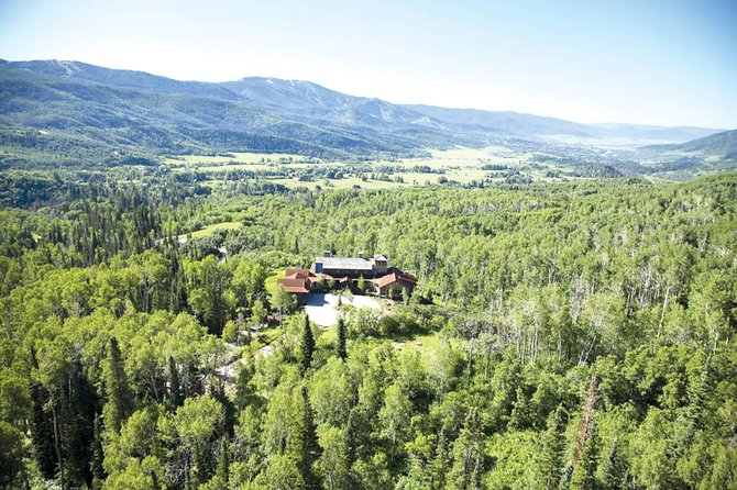 Red Bell Ranch is situated on 119 acres adjoining more than 200 acres of public land at the upper end of Strawberry park, where it overlooks mountain peaks from Soda Mountain to Emerald Mountain.