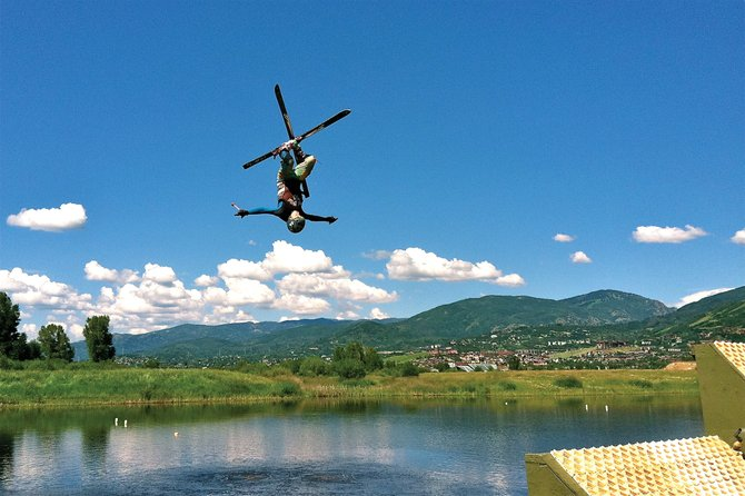 Bruce Perry Jr. works on his moves while training at Bald Eagle Lake outside of Steamboat Springs this week. An initiative to put Colorado-born skiers at the top of an Olympic podium holds a sporting clay shoot fundraiser Saturday.