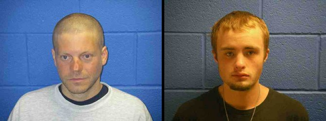 Adam Huber, left, the man serving a six-month sentence for stabbing a 14-year-old boy in the hand at Bud Werner Memorial Library in April, was involved in an altercation Saturday with the boys older brother, William Ellifritz, who has pleaded guilty to second-degree burglary and second-degree theft related to six burglaries at downtown businesses May 4.