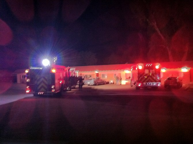 There were no injuries in a small kitchen fire at an apartment on the east side of Dream Island Mobile Home Park on Wednesday night.