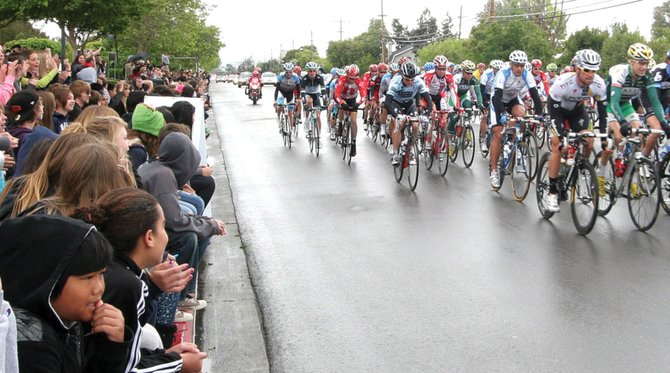Crowds line the steets of Livermore, Calif., during the Tour of California professional stage race in May. Livermore officials say the race brought significant attention to their town. Steamboat officials expect the same when the USA Pro Cycling Challenge rolls into town later this month.