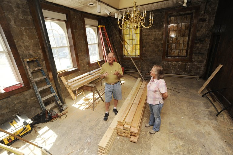 Steamboat Art Museum board members, Shirley Stocks and Rod Hanna talk about the museum's expansion into the rest of the historic Rehder Building at 803 Lincoln Avenue downtown.