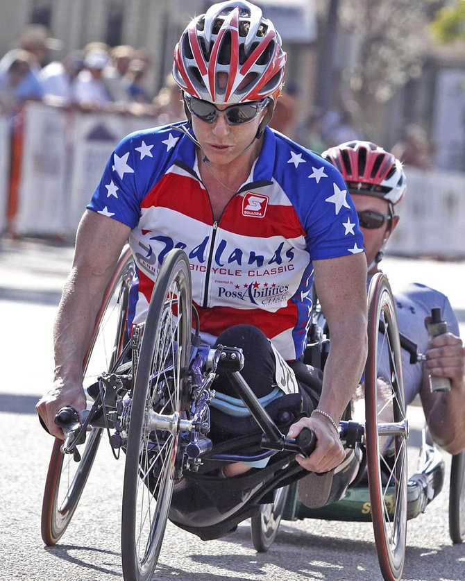 Monica Bascio, of Evergreen, will be one of the athletes racing in Friday's U.S. Paracycling Challenge in Steamboat Springs. The 4.07-mile time trial starts at 12:15 p.m. at Sixth Street and Lincoln Avenue.