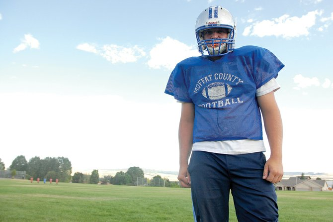 Garrett Spears, a Moffat County High School senior, blew out is knee last year and missed the first six games of the season. The offensive/defensive lineman said he's recovered from the injury and ready to help his team push for a playoff berth.