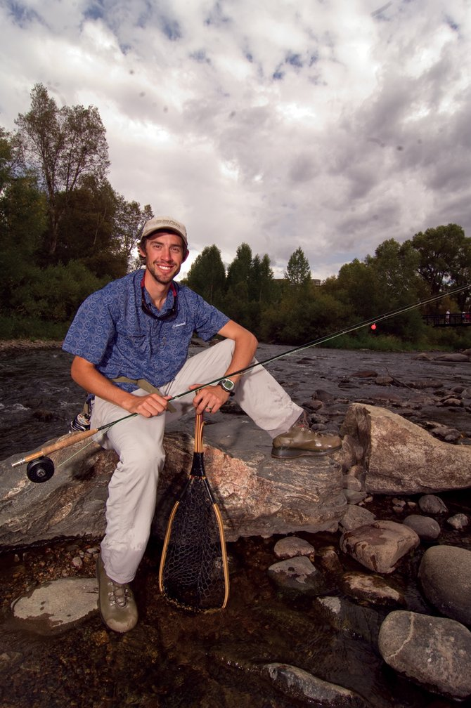 Three-time Olympic silver medalist Johnny Spillane at home on the waters of the Yampa River.