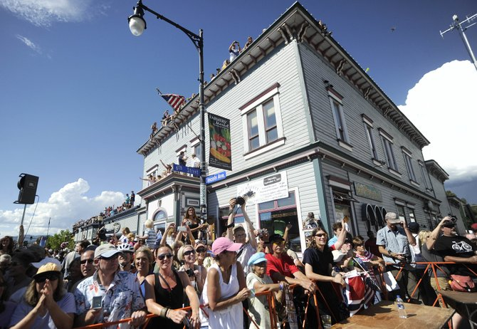 Spectators lined the streets of downtown Steamboat Springs on Aug. 26 to watch the USA Pro Cycling Challenge's Stage 4 come through town. Local organizers are pondering submitting a bid for the 2012 event.