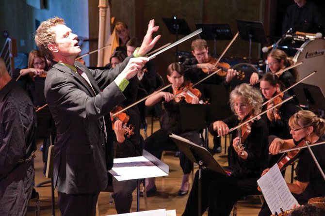 Steamboat Symphony Orchestra/Courtesy Ernest Richardson, Steamboat Symphony Orchestra music director, will lead the ensemble into its 20th anniversary season with an opening concert at 7 p.m. today at Strings Music Pavilion. Tickets are $35.