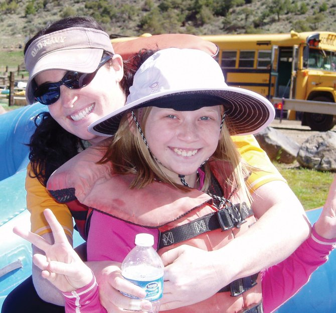 Partners in Routt County volunteer Loryn Kasten and her junior partner, Claire, went rafting as a part of the mentoring program. Partners' fifth annual Java & Jazz fundraiser takes place at 5:30 p.m. Friday at the Larson Barn.