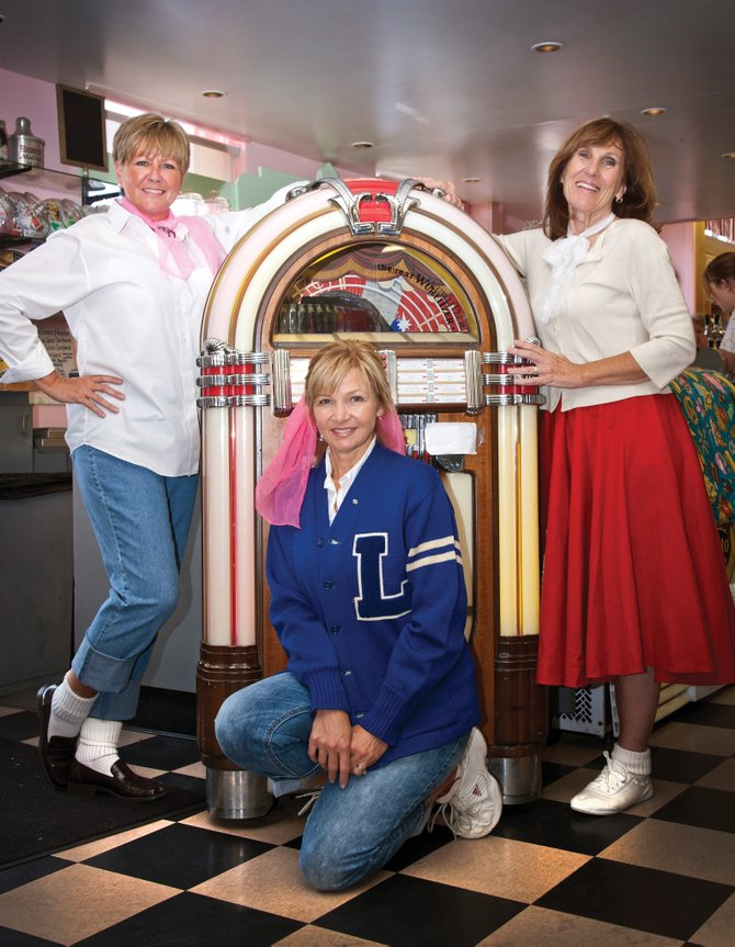 Advocates Building Peaceful Communities hosts a 1950s and '60s themed fundraising dance at 7:30 p.m. Saturday at The Steamboat Grand. Tickets are $20. Advocates board members, from left, Alice Klauzer and Robyn Orton and executive director Diane Moore show off the retro look.