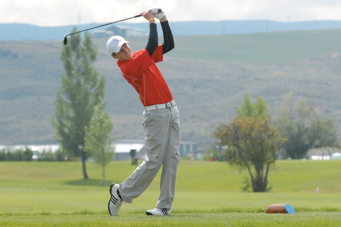 Steamboat Springs High School golfer Erik Sobeck tees off No. 12 Wednesday at Yampa Valley Golf Course in Craig. Sobeck shot an 84. He and the rest of his teammates have a 9 a.m. shotgun start today at Haymaker Golf Course.