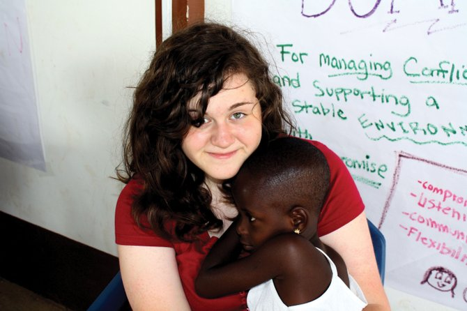 Soroco High School senior Lena Grout traveled to Ghana this summer to teach in local schools and help build houses. She said the children she met there, like Bless, pictured, were inspirational.