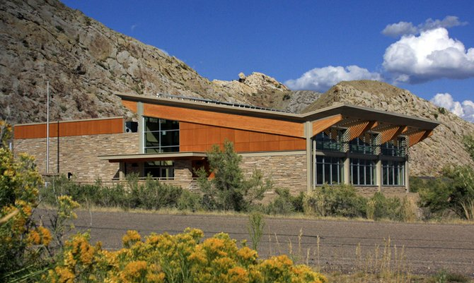 The new Quarry Visitor Center, pictured above, at Dinosaur National Monument near Jensen, Utah, encompasses 7,595 square feet. Ken Salazar, U.S. Secretary of the Interior, will be the keynote speaker Sept. 28 during a ribbon-cutting ceremony for the new building.