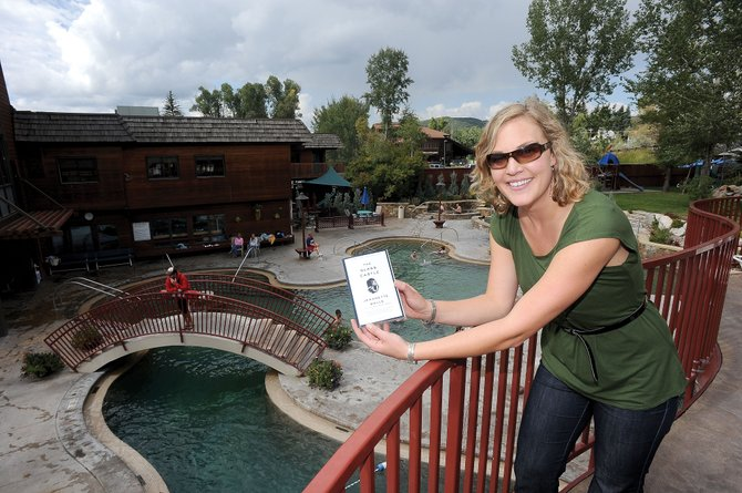 "Michelle Krasilinec was the first community resident to find a copy of ""The Glass Castle,"" the title for this year's One Book Steamboat community read. Krasilinec was able to decipher the clue and located the book at the Old Town Hot Springs on Friday morning."