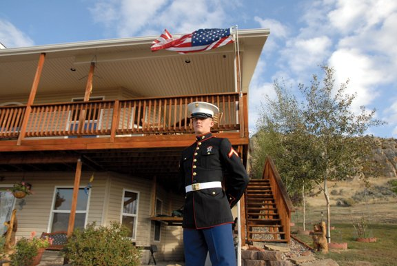 Colin Walt stands in front of his home north of Craig on Friday morning. Walt, a 2011 Moffat County High School graduate, was offered scholarships from several universities, but decided to join the Marines instead.
