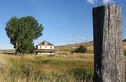 The Collom house, located at the intersection of Colorado Highway 13 South and Moffat County Road 17, is part of the Journey 65 Million Years in 65 Miles tour. The property was originally homesteaded in 1886 and is one of many historical sites along the self-guided tours route.