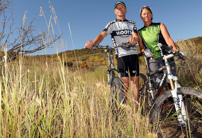 Marc and Gretchen Sehler are rarely ever more than a few steps from Emerald Mountain, which lies right outside their backyard. They've invested a tremendous amount of time in the past 20 years leading volunteer efforts to work on the mountain bike trails on the downtown Steamboat Springs landmark and were honored for that effort Thursday.