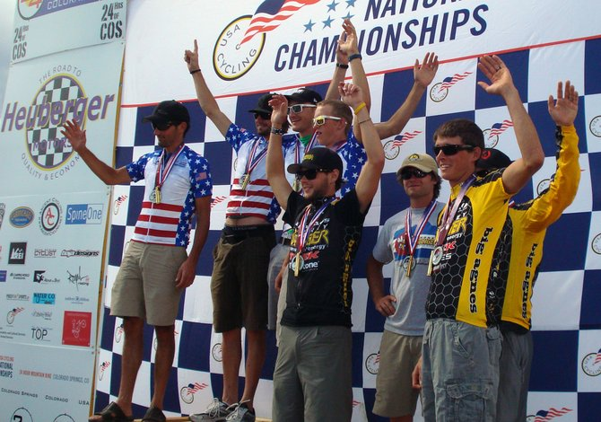 Steamboat Springs riders Trevor Walz, Brad Bingham and Peter Kalmes were part of a four-rider team that finished second last weekend in the USA Cycling 24-Hour Mountain Bike National Championships in Colorado Springs.