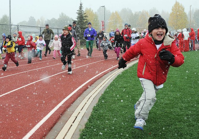 More than 300 athletes took part in the second annual Steamboat Sneak, which included races of 10 and 5 kilometers and a 400-meter fun run that consisted of one lap around the Steamboat Springs High School track. Some of the athletes took shortcuts.