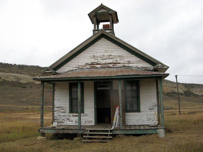 Historic Routt County is working to restore the historic Foidel Canyon Schoolhouse near Twentymile Mine. Built in 1926, the schoolhouse was closed in the early 1960s after schools in Routt County were consolidated.