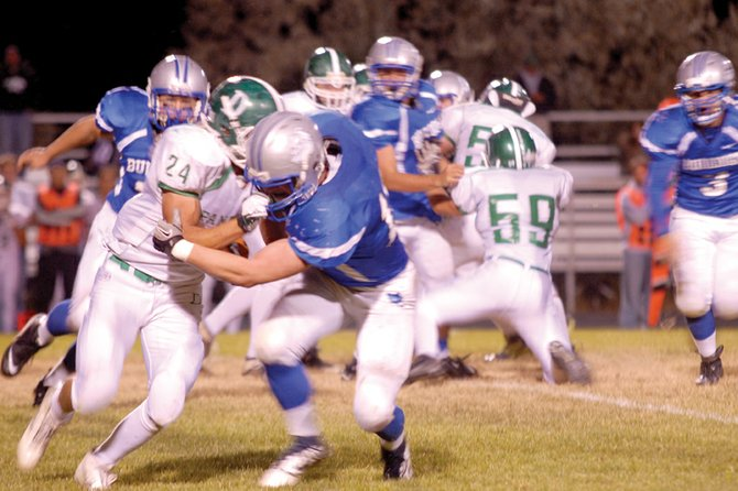 The Moffat County High School varsity football team hosts No. 9 Battle Mountain High School at 7 p.m. Friday at the Bulldog Proving Grounds. Head coach Kip Hafey said his defense will need to contain the edges to avoid giving up big plays and getting in an early deficit.
