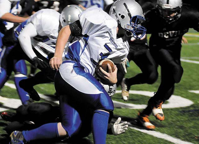 The Moffat County High School varsity football team plays their sixth ranked opponent of the year Friday against No. 5 Rifle High School. Head coach Kip Hafey said the Bulldogs have to finish drives if they have hope for an upset.