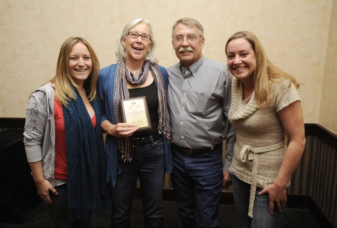 Light Works of Steamboat was the recipient Friday of the Sustainable Steamboat Business Award. Pictured are, from left, Becca Stoll, Nancy Schwanke, Richard Schwanke and Hanni Schwanke.