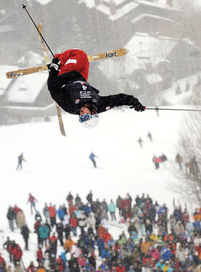 Patrick Deneen flies off the bottom jump on the Voo Doo moguls course at Steamboat Ski Area during the men's moguls event at the 2010 U.S. Olympic Team Trials, earning him a spot in the 2010 Olympics in Vancouver, British Columbia. Five Steamboat Springs Winter Sports Club mogul skiers, including Deneen, will make the first World Cup start of the season in Ruka, Finland, next month.