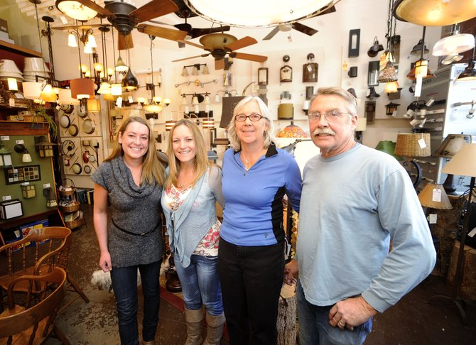 Light Works of Steamboat is a family-run business that last week was presented with the Sustainable Steamboat Business Award. Pictured are, from right, Richard Schwanke, Nancy Schwanke, Becca Stoll and Hanni Schwanke.