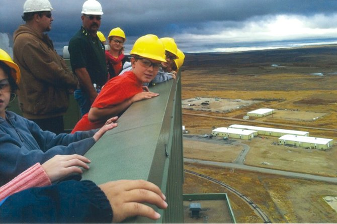 Boys & Girls Club of Craig members got a view from the roof of the Tri-State Generation and Transmission Association's Craig Station during an Oct. 17 tour of the power plant. The trip kicked off the club's newly launched Team Green Program, which is designed to teach children about issues related to energy and the environment.