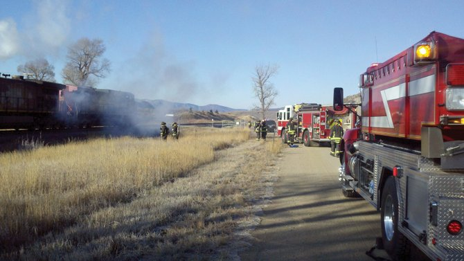 Steamboat Springs Fire Rescue put down a locomotive fire Wednesday morning west of city limits. The fire was first reported at about 8 a.m. by a passer-by at Pine Grove Road.