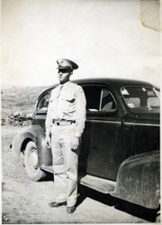 In this photo taken in 1944, Rodney Duncan poses in his U.S. Army uniform before his deployment to India and Burma.