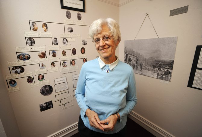 "Lynn Abbott, Addison ""Judge"" Gooding's granddaughter, emphasized the importance of the outdoors to her family, which for more than 100 years has had a notable impact on the Yampa Valley. An exhibit about the Gooding family will be on display at the Tread of Pioneers Museum for the next year."
