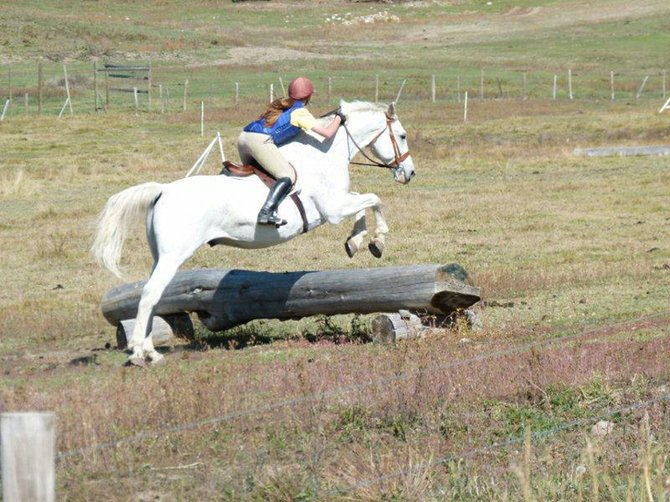 Holly Dunaway rides the cross-country course at Elk River Equestrian in Steamboat Springs. Dunaway passed both her D3 and C1 ratings from the local chapter of the U.S. Pony Club, which required three full days of testing between August and October.