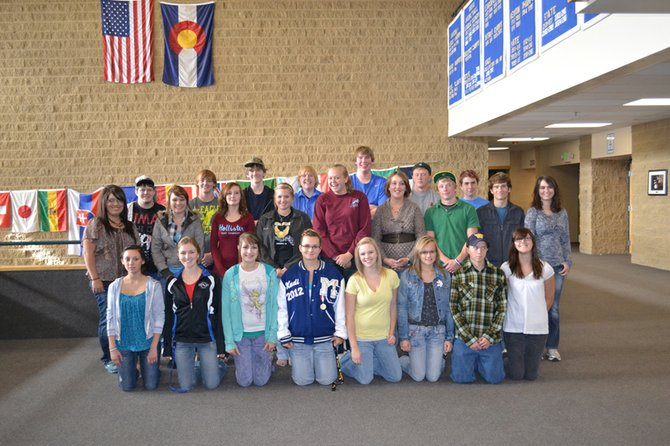 The Moffat County DECA team displays their increased membership.