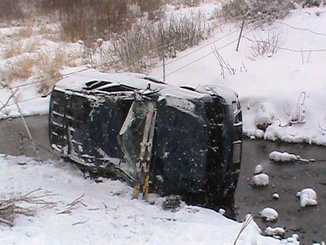 A Chevy Trailblazer rolled several times down an embankment in Oak Creek Canyon at about 9:30 a.m. Saturday. All occupants walked away from the accident but were transported to Yampa Valley Medical Center with scrapes, bruises and complaints of shoulder and back pain. Colorado Highway 131 was closed for about 1 1/2 hours starting at noon while crews retrieved the car, which had landed on its side in the creek.