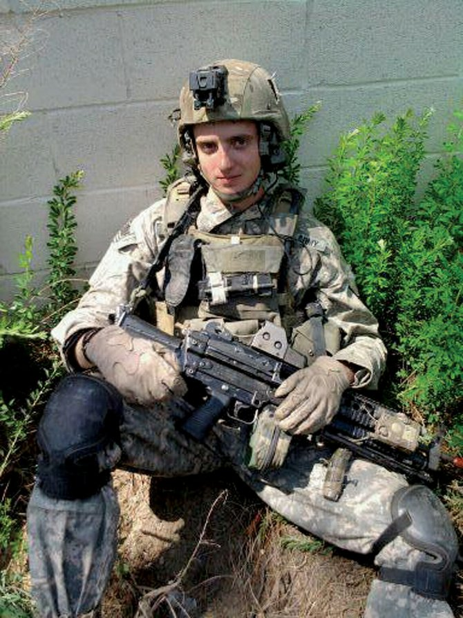 Casey Greene, pictured here in a photo provided by his grandmother Marylou Wisdom, was injured during a Sept. 24 attack while serving his third deployment in Afghanistan. Greene, a U.S. Army Ranger specialist and Moffat County High School graduate, is in Craig for the holidays and is expected to make a full recovery.